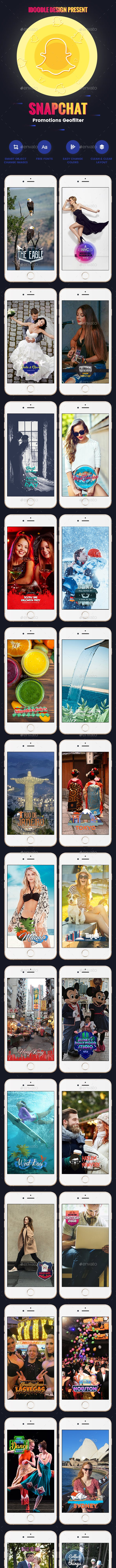 promotion geofilters snapchat 30 psd special pack by idoodle