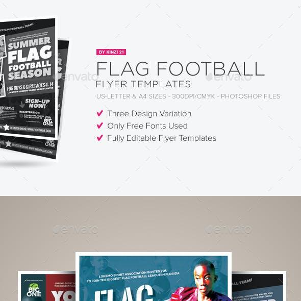 flag football flyer templates by kinzi21 graphicriver