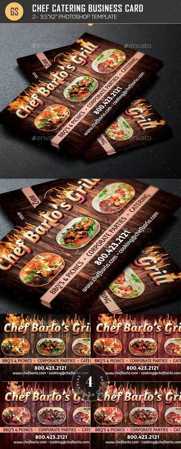 Chef Catering Business Card Template By Godserv2 Graphicriver