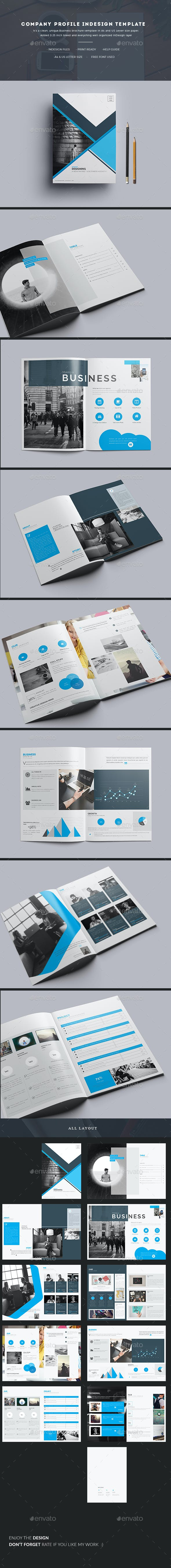Company Profile Indesign Template By Addaxx Graphicriver
