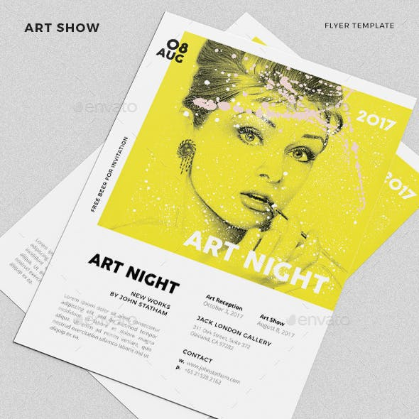 Art Expo Flyer Templates And Free Photoshop Templates Graphics
