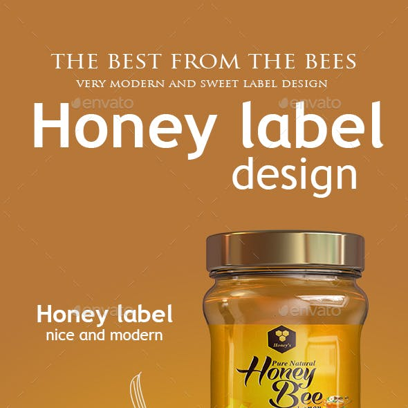 honey jar label graphics designs templates from graphicriver
