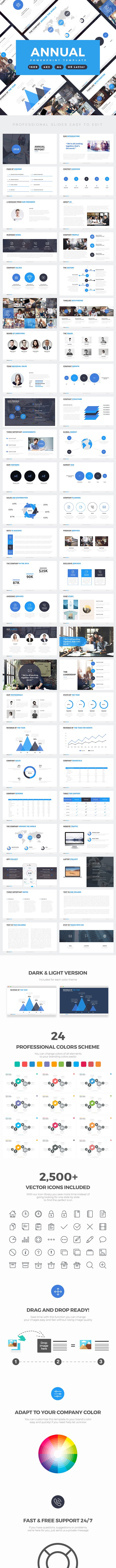 annual report professional powerpoint template by slidefusion