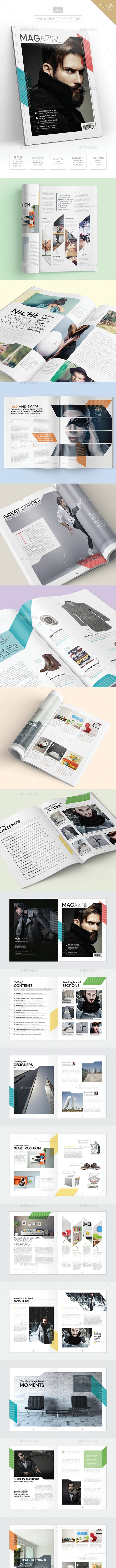 Magazine Template Indesign 40 Page Layout V9 By Boxedcreative