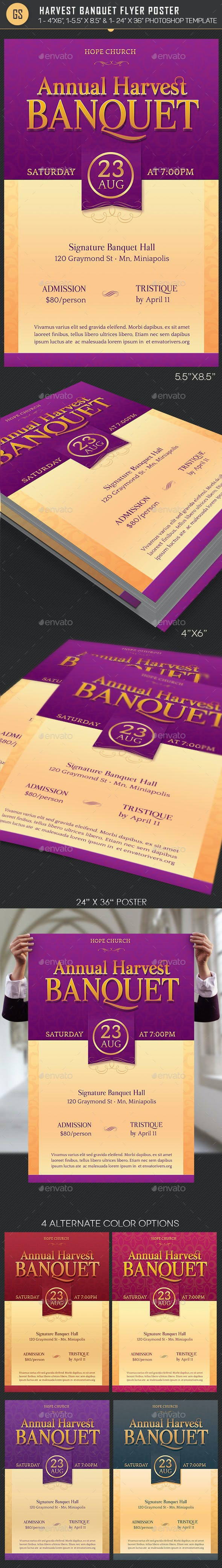 church harvest banquet flyer poster template by godserv2 graphicriver