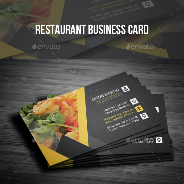 Mexican Restaurant Business Cards Graphics Designs Templates
