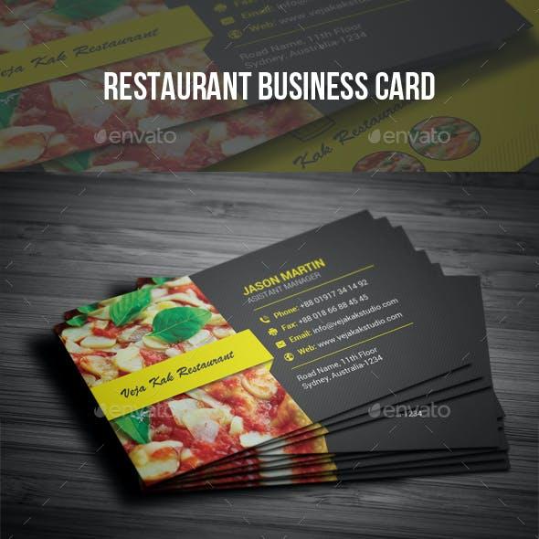 Restaurant Business Cards Templates Graphics Designs Templates