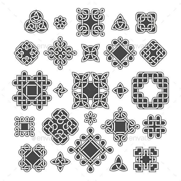 Chinese And Celtic Endless Knots Patterns Vector By MicrovOne