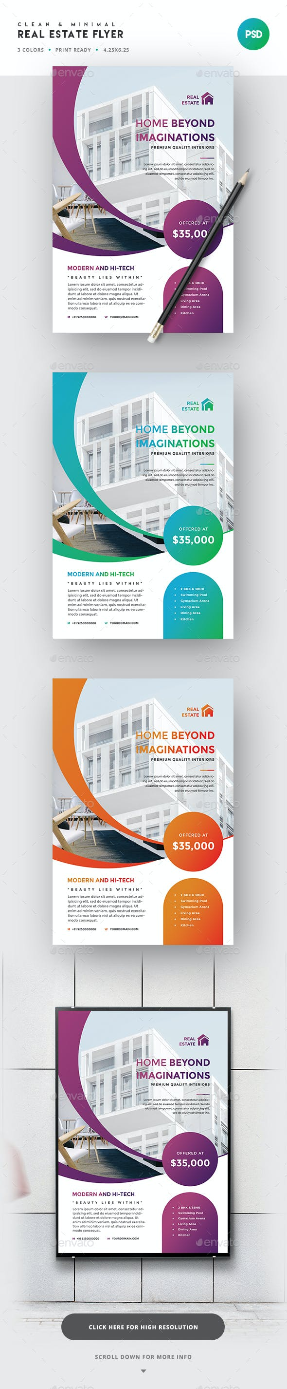 real estate flyer template by superboy1 graphicriver