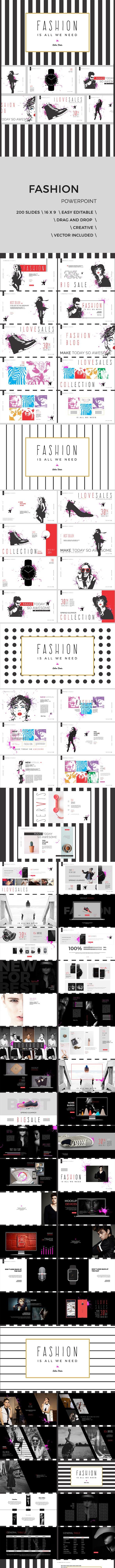 art fashion powerpoint presentation by diminanton graphicriver