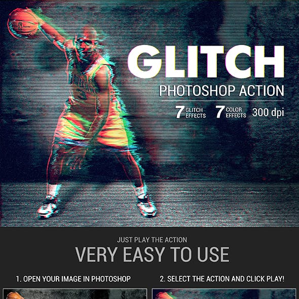 Glitch Photoshop Action by Ibragimov | GraphicRiver