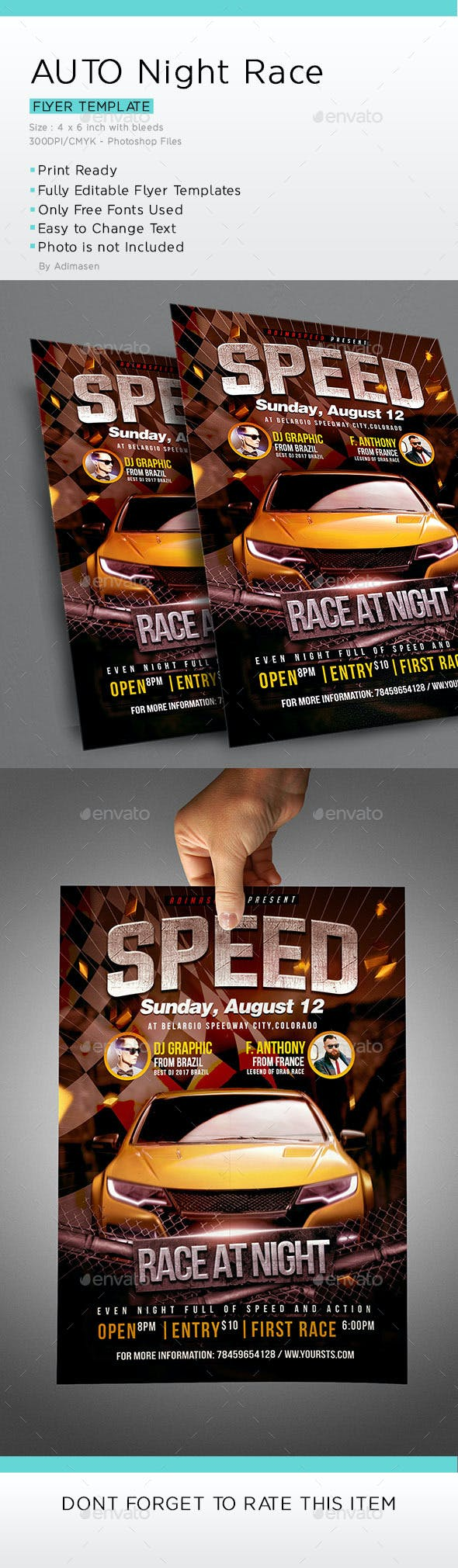 auto racing flyer template by adimasen graphicriver