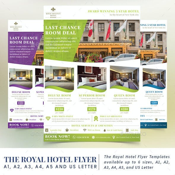 Guest house flyer stationery and design template the royal hotel flyer templates maxwellsz