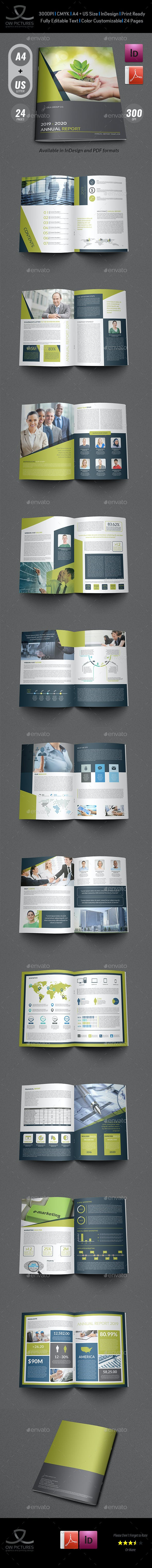 annual report brochure template 24 pages by owpictures graphicriver