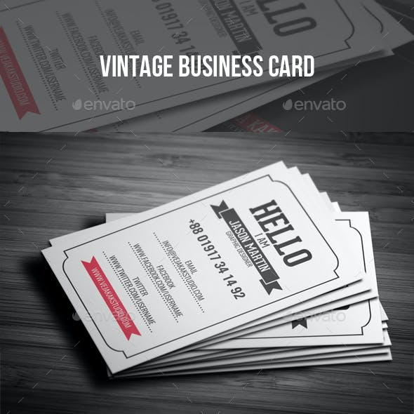 vintage business card templates designs from graphicriver
