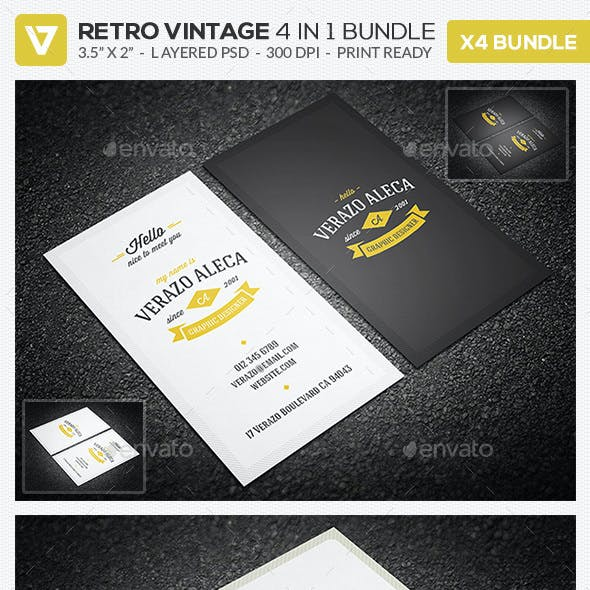 Vintage business card templates designs from graphicriver retro business card bundle flashek Images