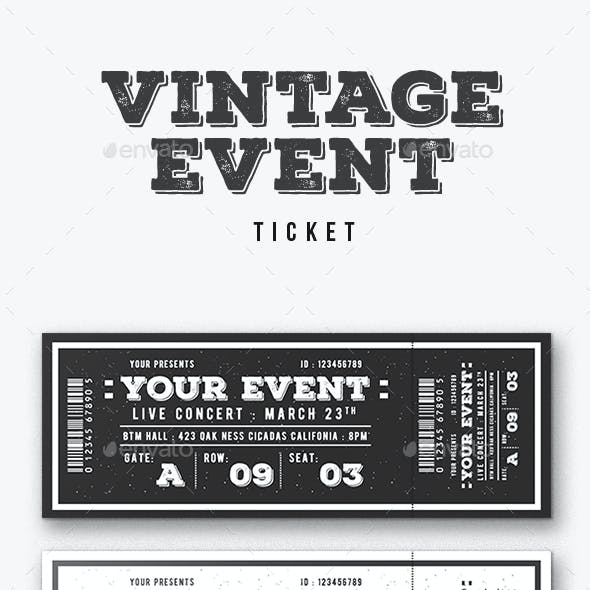 vintage event graphics designs templates from graphicriver