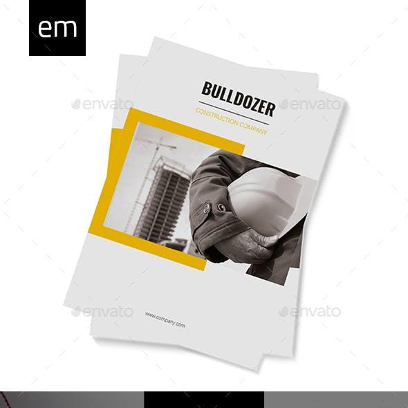 construction brochure template graphics designs templates