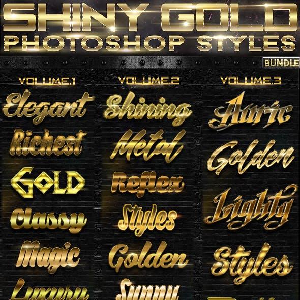 79c6e9236232 Shiny Gold Photoshop Styles  BUNDLE