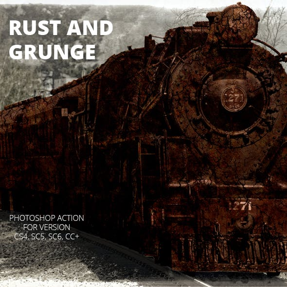 Rust and Grunge Photoshop Action by LadyAlbina | GraphicRiver