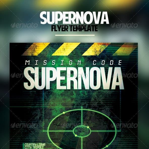 supernova movie flyer template stationery and design template