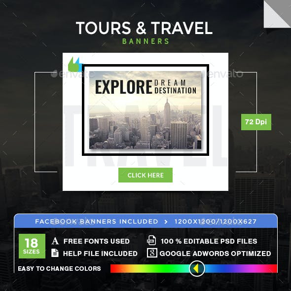 Travel Promotion Banners Live Banners