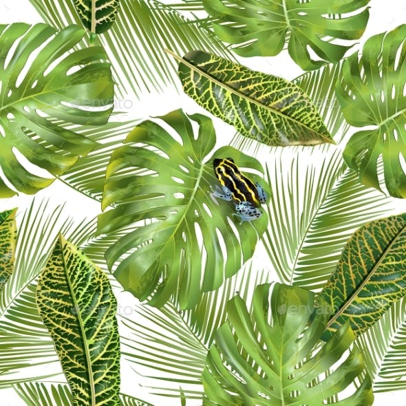 Tropical Leaves Pattern By PurpleBird GraphicRiver Magnificent Tropical Leaves Pattern