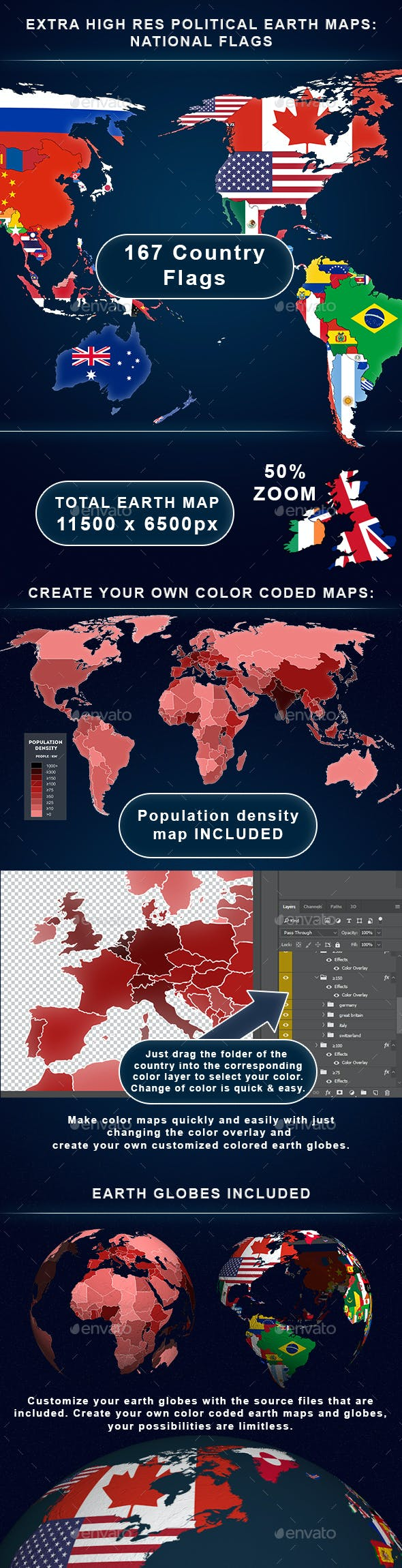 Color Your Own World Map.Political World Maps Globes By Magevo Graphicriver