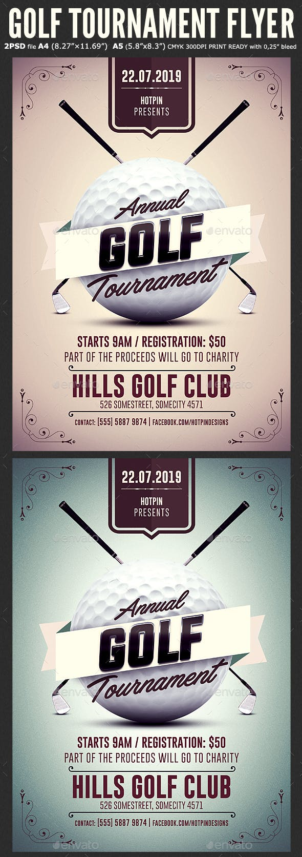golf tournament flyer template by hotpin graphicriver