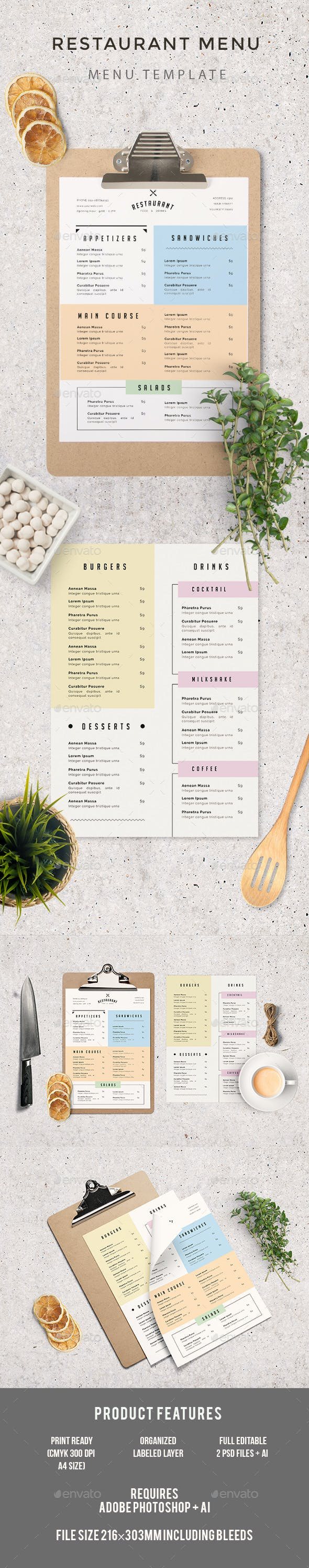 simple restaurant menu by infinite78910 graphicriver