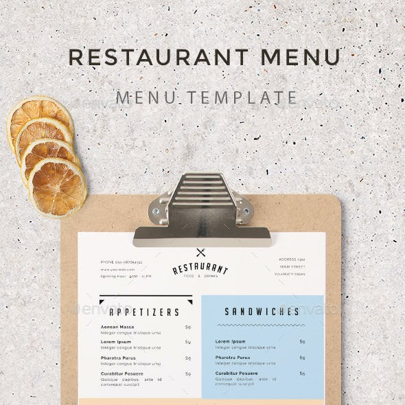 simple restaurant menu graphics designs templates