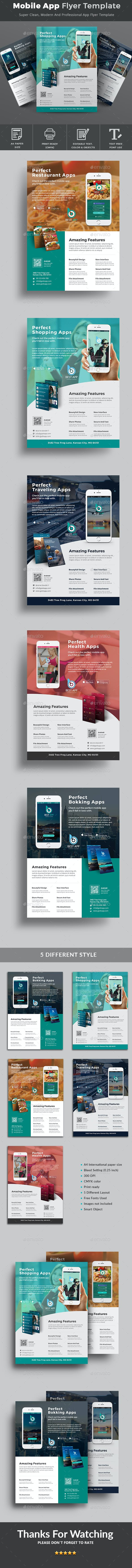 mobile app flyer template by classicdesignp graphicriver
