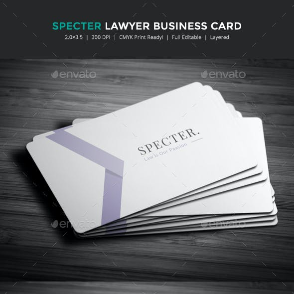 Specter lawyer business card by exoticthemes graphicriver colourmoves
