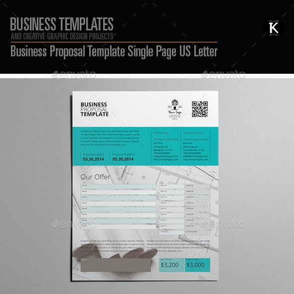 Business proposal template graphics designs templates business proposal template single page us letter accmission Gallery
