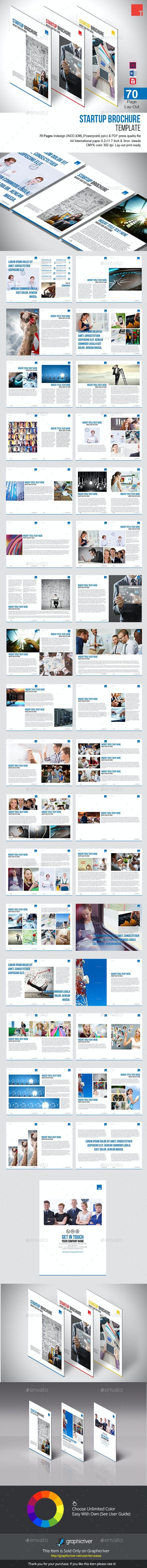 startup brochure template informational brochures