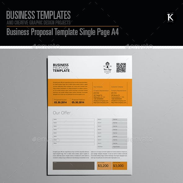 Indesign proposal graphics designs templates business proposal template single page a4 cheaphphosting Images