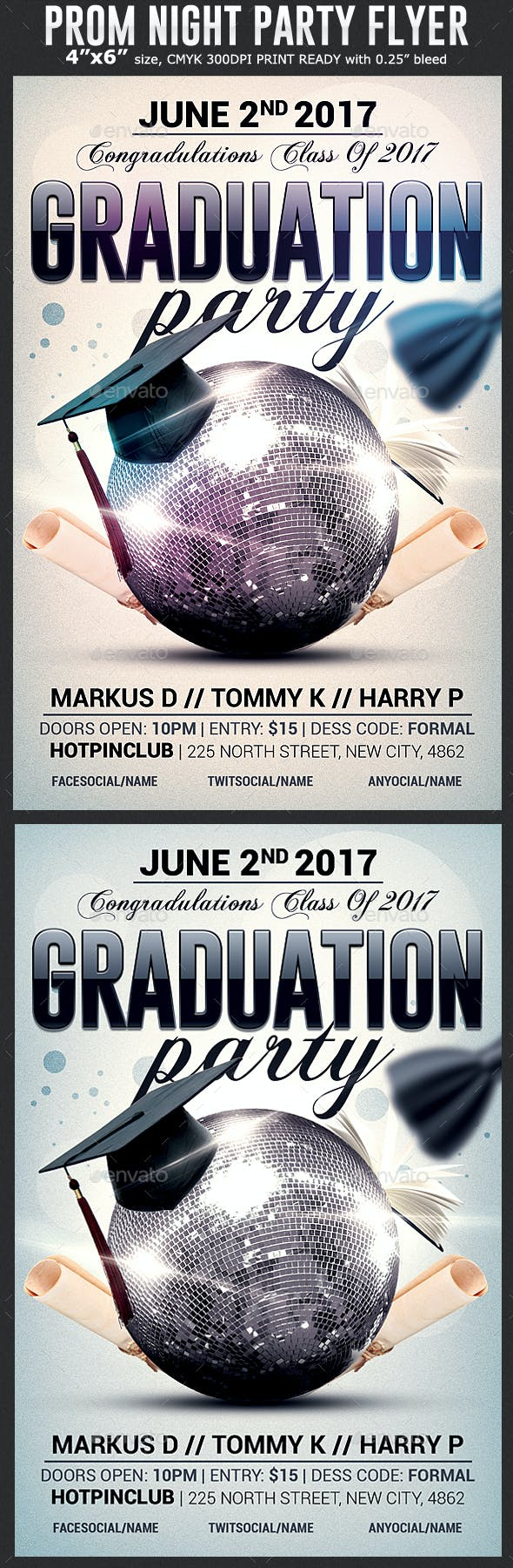 Graduation Party Flyer Template By Hotpin Graphicriver