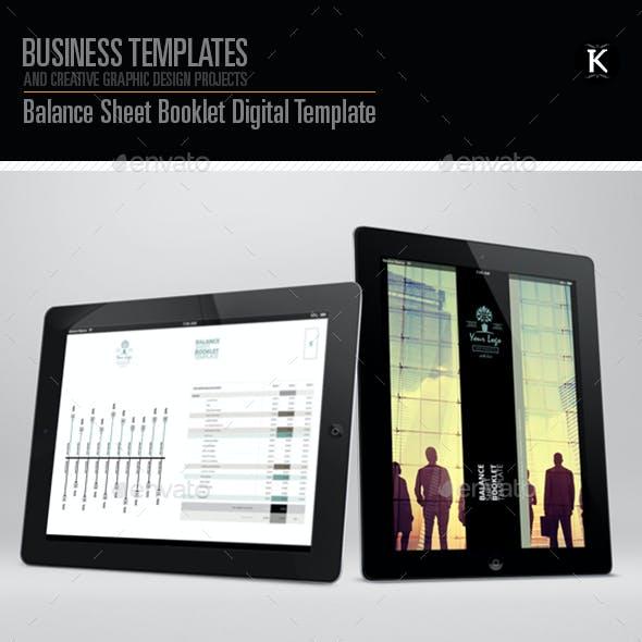 balance sheet booklet digital template by keboto graphicriver