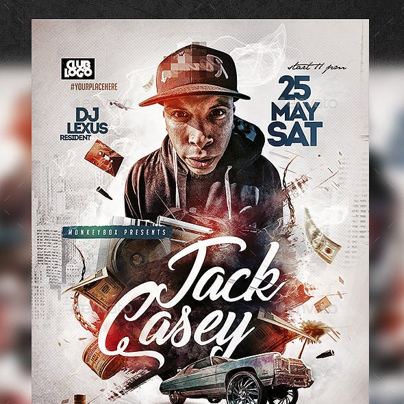 rap dj graphics designs templates from graphicriver