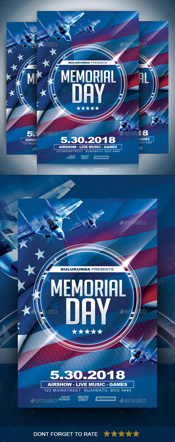 memorial day flyer by ayumadesign graphicriver
