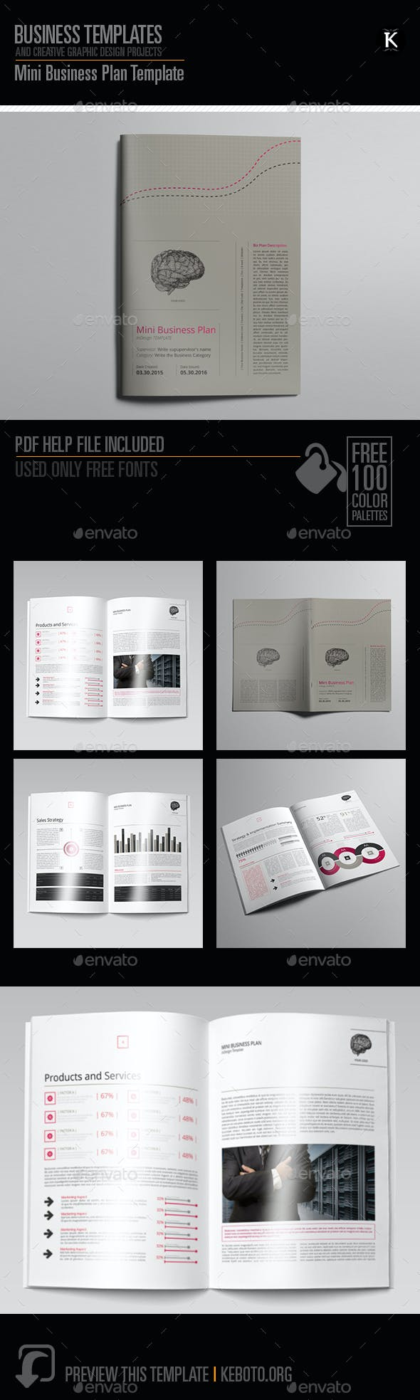mini business plan template miscellaneous print templates