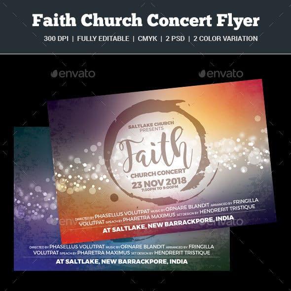 Faith Church Concert Flyer