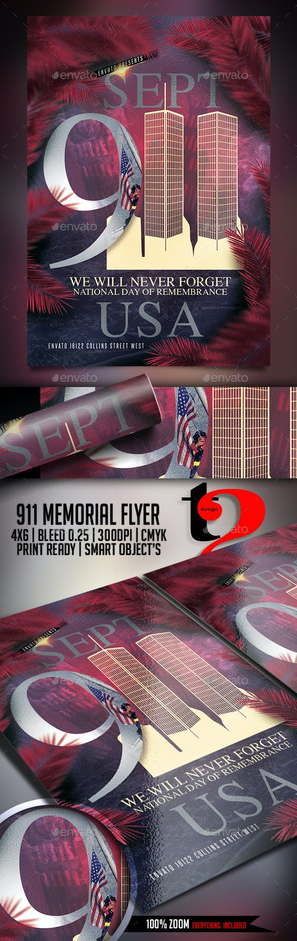 911 memorial flyer template by take2design graphicriver
