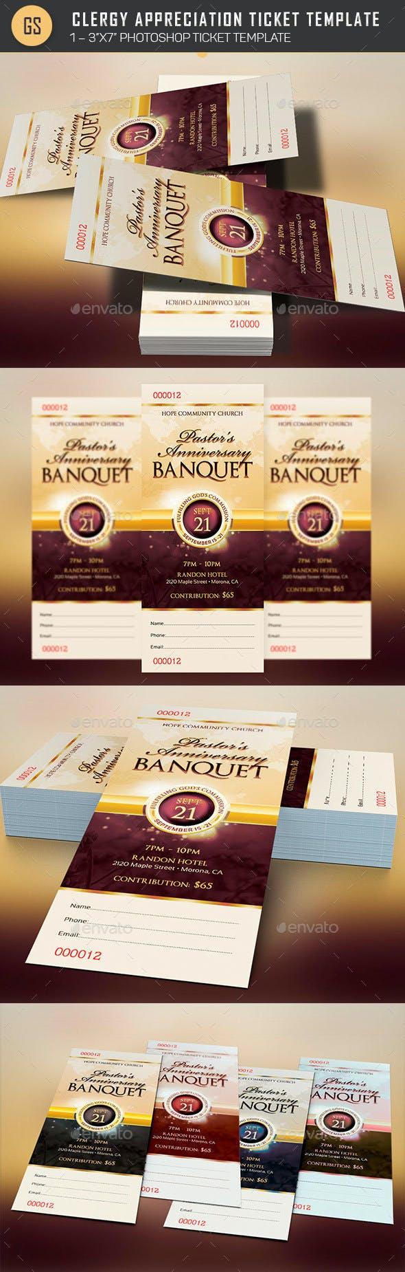 clergy appreciation gala ticket template by godserv2 graphicriver