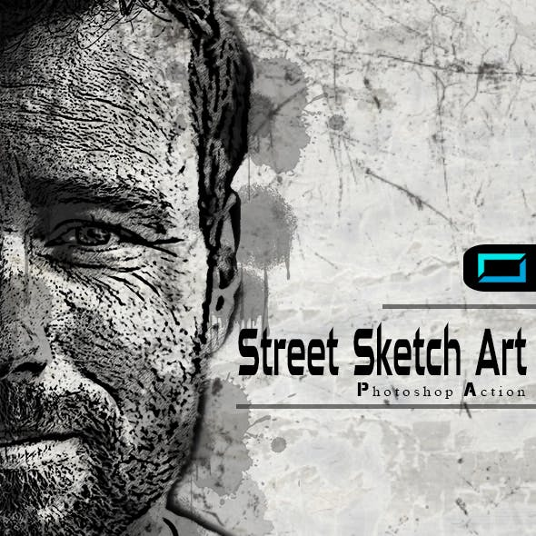Street art graphics designs templates from graphicriver page 2 street sketch art photoshop action maxwellsz