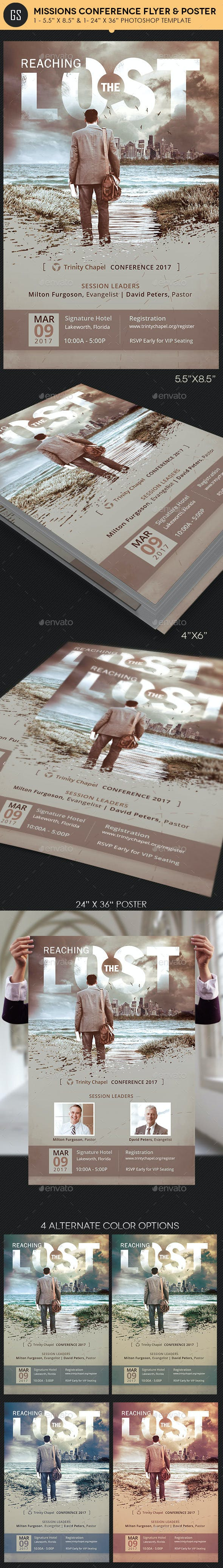 missions conference flyer poster template by godserv graphicriver