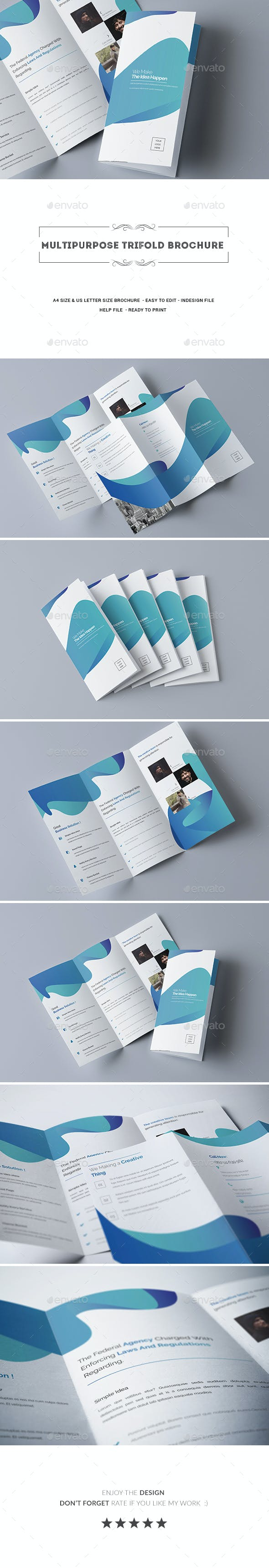 multipurpose trifold brochure by addaxx graphicriver