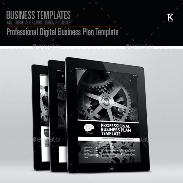Professional digital business plan template by keboto graphicriver flashek Image collections