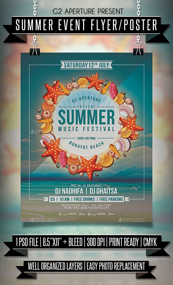 summer event flyer poster by martini50s graphicriver