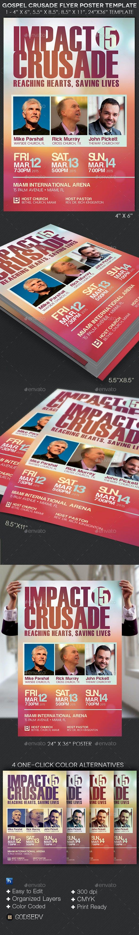gospel crusade flyer poster template by godserv graphicriver